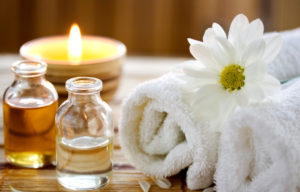 Oil , Candles , and Towels at Heart & Soles Day Spa and Salon in Atascadero , San Luis Obispo , near me