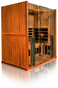 Sanctuary Infrared Sauna to relax, detox, and restore at Heart & Soles Day Spa and Salon in Atascadero, San Luis Obispo, California