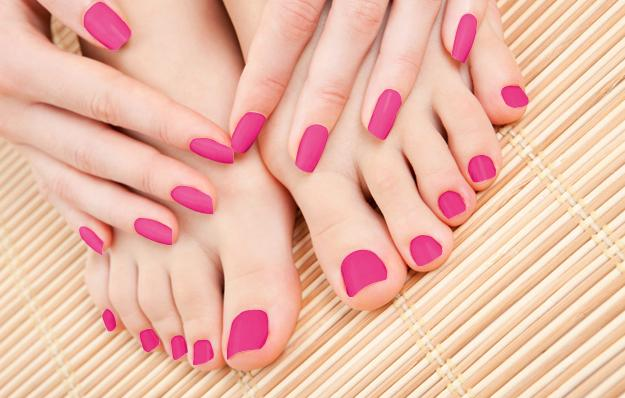 A pedicure completed at heart & soles Day spa in atascadero