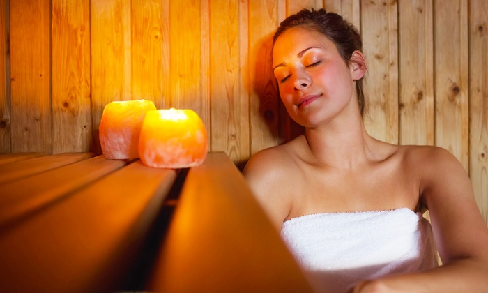 woman-using-infrared-sauna-with-candle-at-heart-soles-day-spa-atascadero